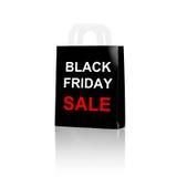 Panier avec le mot de vendredi de vente et de noir Photo stock