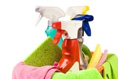 Panier avec le nettoyage Image libre de droits