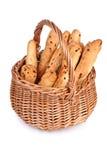 Panier avec les pains frais Photo libre de droits