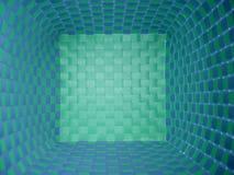 Panier bleu et vert photographie stock libre de droits