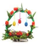 Panier décoratif de Pâques image stock
