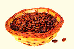 Panier de café Photographie stock libre de droits