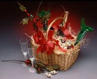 Panier de Champagne Photo stock