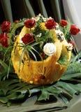 Panier de filasse d'un potiron (type de nourriture) Image libre de droits