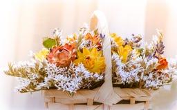 Panier de fleur Image stock