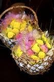 Panier de fleur Photographie stock