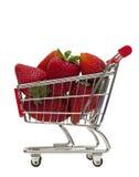 Panier de fraise Photos libres de droits