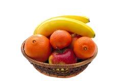 Panier de fruit photographie stock libre de droits
