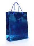 Panier de luxe bleu Photo libre de droits
