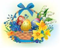 Panier de Pâques illustration libre de droits