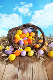 Panier de Pâques Photo stock