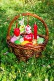 Panier de Pâques Photographie stock