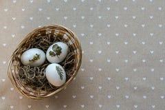 Panier de Pâques Photo libre de droits