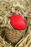 Panier de Pâques avec l'oeuf Photos stock