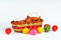 Panier de Pâques rempli image stock