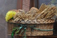 Panier de pain Photographie stock