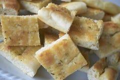 Panier de pain de focacce photo stock
