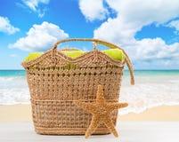 Panier de plage Images libres de droits