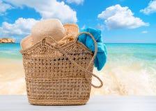 Panier de plage Photo libre de droits