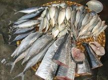 Panier de poissons à Hanoï Images stock