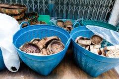 Panier de poissons Photographie stock