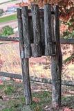 Panier de rebut en bois Images stock