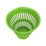 Panier de rebut vert Image stock