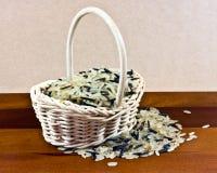 Panier de riz Images stock