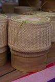 Panier de riz Images libres de droits