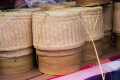 Panier de riz Photos stock