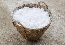 Panier de sel Photo libre de droits