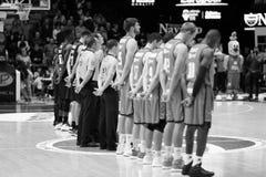 Panier de Valencia Basket et de Bilbao Photo stock