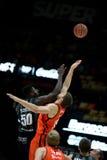 Panier de Valencia Basket et de Bilbao Image stock