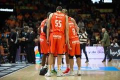 Panier de Valencia Basket et de Bilbao Photographie stock