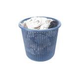 Panier des chaussettes sales de blanchisserie sale Images libres de droits
