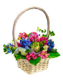 Panier des fleurs Image libre de droits