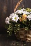 Panier des fleurs Photographie stock libre de droits