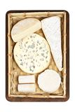 Panier des fromages Photos stock