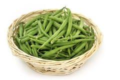 Panier des haricots verts Photo stock