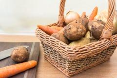 Panier des légumes frais Photographie stock