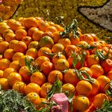 Panier des oranges photo stock