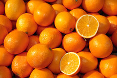 Panier des oranges Photos stock