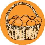 Panier des oranges Illustration Libre de Droits