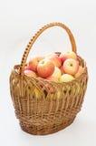 Panier des pommes Photo stock