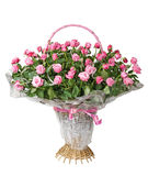 Panier des roses Photos libres de droits