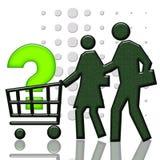 Panier du consommateur Photos stock