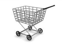 Panier du consommateur. Image libre de droits