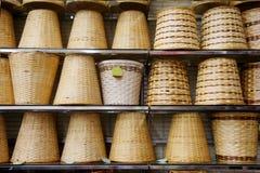 Panier en bambou image stock
