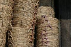 Panier en bambou Image libre de droits