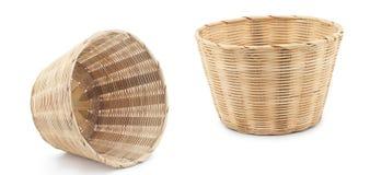 Panier en bambou Photographie stock
